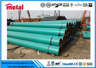 China 21.3 - 660 Mm Dia Plastic Coated Steel Tube , Green 2 Inch Schedule 40 Steel Pipe supplier