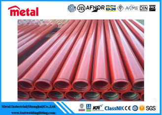 China Red / Black Painting Coated Steel Pipe Carbon Steel Erw Material Waterproof supplier