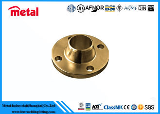 China Weldable Round Copper Nickel Pipe Fittings Copper Pipe Flange Thick Wall supplier