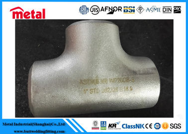 China Seamless Stainless Steel Equal Tee , ASTM B366 WP20CB - W Stainless Pipe Fittings supplier