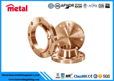 "China 1 / 2 "" - 36 "" Copper Nickel Pipe Fittings Copper Pipe Flange High Destructive Turbulence supplier"