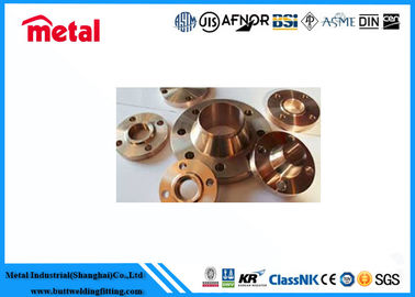 China Class 900 # Cupro Nickel Pipe Fittings , Alloy Steel Slip On Copper Nickel Flanges supplier
