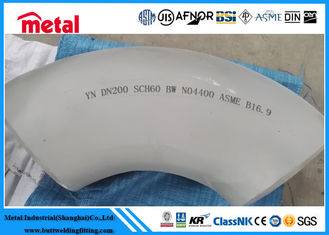 China NO4400 90 Degree Steel Pipe Elbow , LR Monel 400 Nickel Pipe Fittings supplier