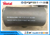 China Seamless Alloy Steel Pipe Fittings SA234 WP12 Reducing Tee 5'' X 2 1/2'' SCH80 factory