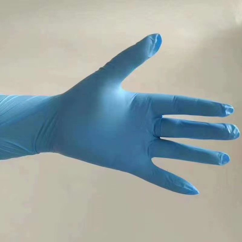 Powdered 9 Inch CE FDA Disposable Nitrile Gloves