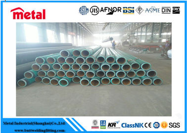 PE / 3PE Coated Steel Pipe For Liquid / Oil / Gas / Petroleum 1.8 - 22 Mm Thickness