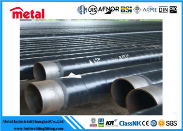 LSAW Coated Steel Gas Pipe , Anti Corrosion Protection Coated Black Pipe