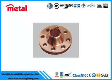 Precision Copper Nickel Pipe Fittings Copper Pipe Flange High Destructive Turbulence