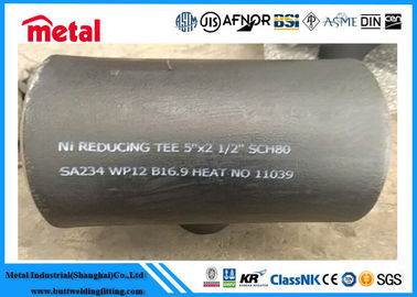 Seamless Alloy Steel Pipe Fittings SA234 WP12 Reducing Tee 5'' X 2 1/2'' SCH80