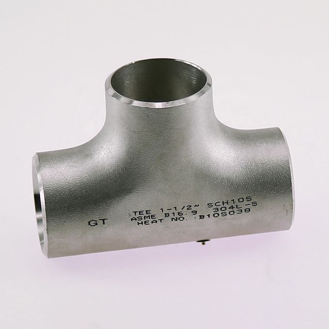 API DIN AISI Super Duplex Butt Weld Pipe Fittings Equal Tee Reducing Shape