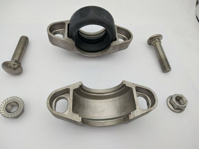 Pipes Stainless Steel Clamp Half Pipe Clamps With Simple Connecting Thread